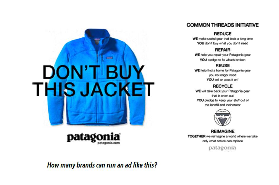 """Как призыв """"Не покупай"""" позволил производителю одежды повысить продажи в несколько раз?"""